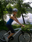 TANITH BELBIN Twitter Pic - On Bicycle