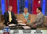 "GRETCHEN CARLSON legs -""Fox & Friends"" (June 1, 2009) - *legs, cleavage*"