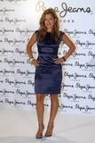 Jade Jagger Sexy Blue Dress