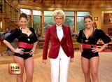 Marisa, Lilia & Dancers - Escandalo TV, Univision - Upskirt. - VideoClip